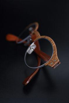 Lucas de Staël / Nemus Half Rim / Wood + genuine cow leather / Handmade eyewear in Paris. http://www.lucasdestael.com/nemus