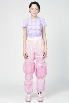 COMME des GARÇONS mesh puff pants – dot.COMME Online store