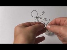 Drahtengel - YouTube Wire Crafts, Diy And Crafts, Crafts For Kids, Christmas Cards, Xmas, Angel Crafts, Angel Ornaments, Paper Cover, Wire Art