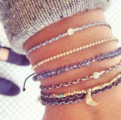 Happy Monday Grey tones! classic wb6 braided bracelets with diamonds sold @store64 and @bluboho #scoshabracelets