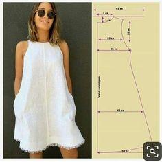 Ideas dress pattern sewing women for 2019 Diy Clothing, Sewing Clothes, Clothing Patterns, Easy Sewing Patterns, Sewing Tutorials, Sewing Tips, Sewing Projects, Sewing Hacks, Dress Tutorials