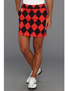 Loudmouth Golf Red and Black Skort