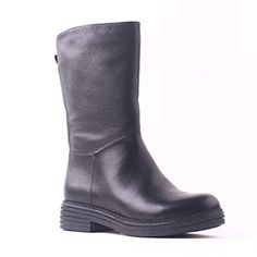 5e8e04341b64 Wool Fur Shoes Women Warm Mid Calf Boots Metal Thick Low Heels Genuine Cow  Leather Handmade