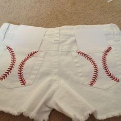 My baseball shorts that I made for Tigers' games! So proud!