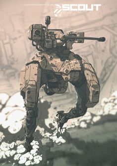 ArtStation - SCOUT ZB124-A7 All Weather Armored Landmate., Nivanh Chanthara