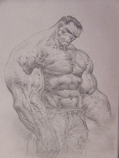 Smouldering Hulk Comic Art