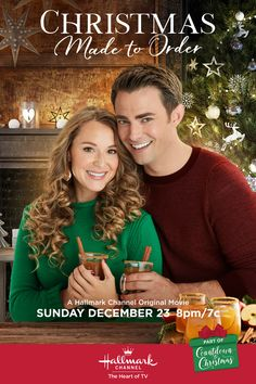 "Its a Wonderful Movie - Your Guide to Family and Christmas Movies on TV: Christmas Made to Order - a Hallmark Channel ""Countdown to Christmas"" Movie starring Alexa PenaVega & Jonathan Bennett! Films Hallmark, Hallmark Holiday Movies, Hallmark Weihnachtsfilme, Christmas Movies On Tv, Hallmark Holidays, Hallmark Channel, Jonathan Bennett, Winter Princess, Version Francaise"