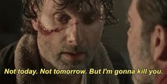 season 7 the walking dead twd rick rick grimes andrew lincoln nycc threat walking dead im gonna kill you not today not tomorrow but im gonna kill you trending #GIF on #Giphy via #IFTTT http://gph.is/2dtAf6P