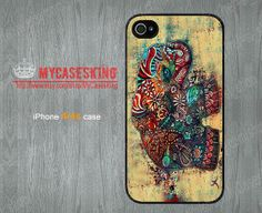 Elephant iPhone 4 case Elephant Art iPhone 4 case Elephant iPhone 4s case iPhone4 4g 4s Hard/Rubber case-Choose Your Favourite Color by MyCasesKing, $6.99