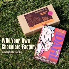 We're giving away 3 sets of prizes of a raw chocolate making kit, plus a copy of Roald Dahl's classic book, Charlie and the Chocolate Factory. Will you be the next Willy Wonka?