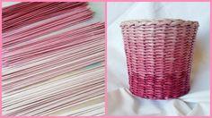 Одноцветный градиент! Плетение корзиночки с градиентом!
