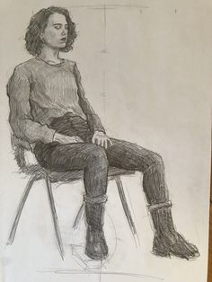 Cool Art Drawings, Realistic Drawings, Beautiful Drawings, Figure Sketching, Figure Drawing Reference, Illustration Sketches, Drawing Sketches, Life Drawing, Painting & Drawing