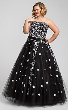 Plus Size Ball Gown Princess Sweetheart Satin Tulle Evening ... – USD $ 249.99