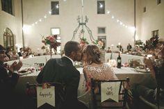 fall wedding chair decor