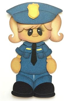 GIRL MY HERO  POLICE PREMADE PAPER PIECING PIECE 3D DIE CUT BY MYTB KIRA #MYTEARBEARS