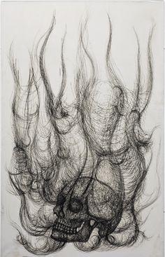 Paolo Canevari, Burning Skull (2008)