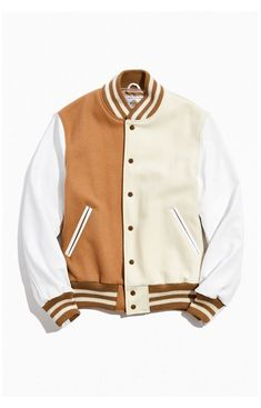 Golden Bear UO Exclusive Colorblock Varsity Jacket #golden #bear #varsity #jacket Golden Bear UO Exclusive Colorblock Varsity Jacket   Urban Outfitters Letterman Jacket Patches, Varsity Jacket Outfit, Rugby Shirts, Nike Tech, Senior Jackets, Leather Varsity Jackets, Cool Outfits, Casual Outfits, Golden Bear