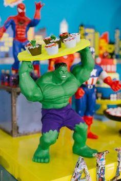 Batman Birthday Meme, Hulk Birthday, Avengers Birthday, Superhero Birthday Party, 1st Birthday Parties, Boy Birthday, Hulk Party, Batman Party, Batman Batman