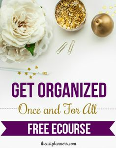 Do you want to get organized once and for all? Free ecourse from Laura Smith at iheartplanners.com. A simple and easy way to organize your home and life and stay that way. Sign up at iheartplanners.com