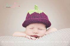 Newborn baby hat  purple berry hat  photo prop  by TheYarnOwlsNest