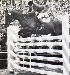George Morris on Sinjon, 1960 Rome Olympics.