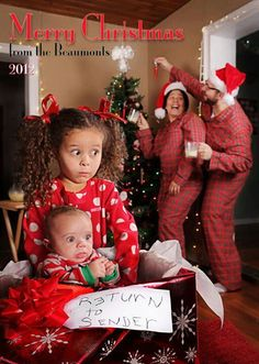 Funny Christmas card from the Beaumonts - god this is hilarious, even the baby looks surprised