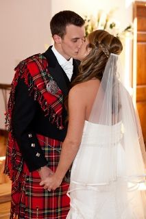 Check out all of these unique wedding pictures from a Scottish wedding-- kilts and all!
