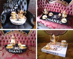 CHANEL HERMES TRAY