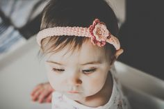 Crochet Baby Girl Headband With Flower, One Size, Baby Shower, Photo Props by SvitrigailesCrochet on Etsy •Copyrights belong to me, Švitrigailė Hoyle, and this picture without permision can't be used• #cute #uk #present #pink #photography props #mom #mum #daughter #toddler