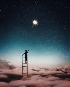 Dreamlike Photo Manipulations by Emma Karlsson Night Sky Stars, Night Skies, Psychadelic Art, Photoshop Images, Epic Photos, Look At The Stars, Creative Photography, Fantasy Photography, Nature Wallpaper