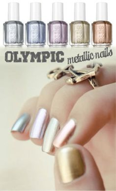 Olympic Metallic Nails #ManiMonday. What do you think of the colors?