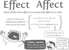 comical use of effect and affect