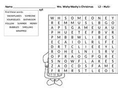 ... Christmas on Pinterest | Christmas writing, Christmas word search and