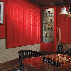 Red Tradition Shutters - From Made In The Shade Blinds