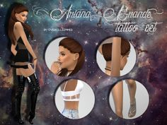 Sims 4 CC's - The Best: Ariana Grande Tattoos by Overkill Simmer