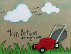 fathers day mowing card | Lawn mower birthday