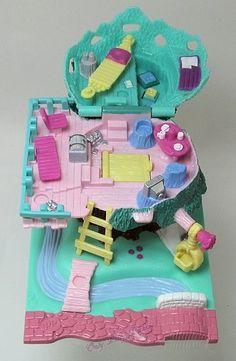 1994 Vintage Polly Pocket Tree House Bluebird Toys $32.00