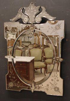 antique mirror, antique Venetian mirror from www.jasperjacks.com