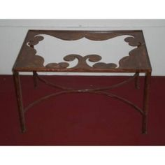 Table wrought iron. cm 50 x 75 x h 45 . 698