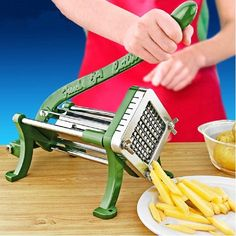 French Fry Cutter Potato Straight Slicer Home Kitchen Pantry Utensil Hand Tool