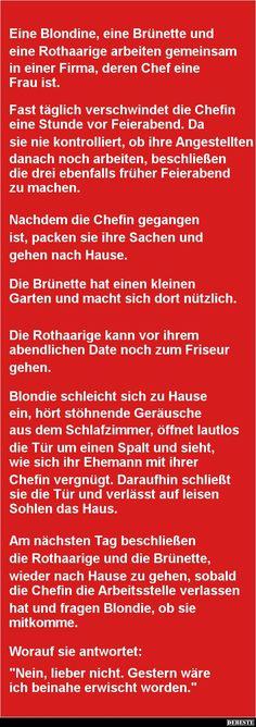 Eine Blondine, eine Brünette und eine Rothaarige | DEBESTE.de, Lustige Bilder, Sprüche, Witze und Videos