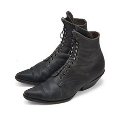 """Gorgeous """"witch"""" boots  http://www.etsy.com/listing/93244127/black-leather-witch-boots-in-lace-up"""