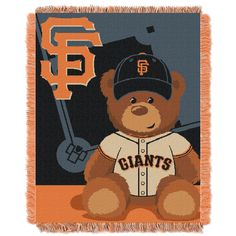 MLB 044 SF Giants Field Bear Baby Throw