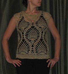 Ravelry: 26-17 Pineapple Sweater pattern by Pierrot (Gosyo Co., Ltd)