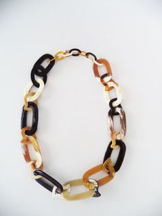 Hathorway Jewelry & Accessories - Handmade long chain necklace crafted using 100% authentic buffalo horn. Made in Vietnam