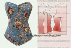 Moldes moda (Corset pattern)