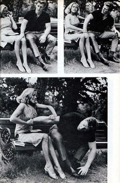 """From """"Honor Blackman's Book of Self Defense"""", 1965.   Blackman played Pussy Galore in a James Bond film."""