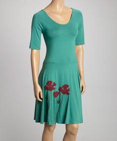 Another great find on #zulily! Bluegrass & Red Poppy Karina Scoop Neck Dress #zulilyfinds