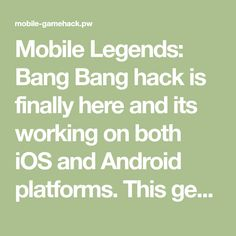 Mobile Legends: Bang Bang hack is finally here and its working on both iOS and Android platforms. This generator is free and its really easy to use! Gold Mobile, Episode Choose Your Story, Free Gift Card Generator, Play Hacks, App Hack, Mobile Legend Wallpaper, Iphone Mobile, Android Hacks, Free Gems