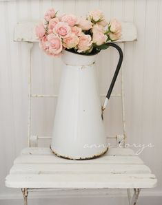 french jug, french chair & sweet roses...